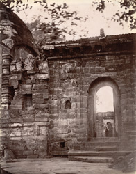 Close view of the gateway of the courtyard of the temples, Kalyanesvari, Burdwan District.